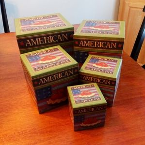 American as Apple Pie Stackable Nesting Boxes Set